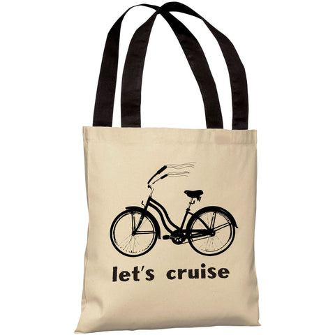 """Let's Cruise"" 18""x18"" Tote Bag by OneBellaCasa"
