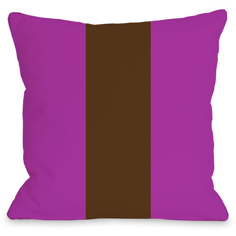 """Main Line"" Outdoor Throw Pillow by OneBellaCasa, Fuchsia/Blue, 16""x16"""