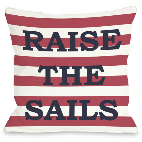 """Raise The Sails"" Outdoor Throw Pillow by OneBellaCasa, 16""x16"""