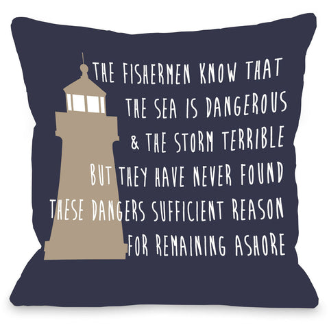 """Remaining Ashore"" Outdoor Throw Pillow by OneBellaCasa, 16""x16"""