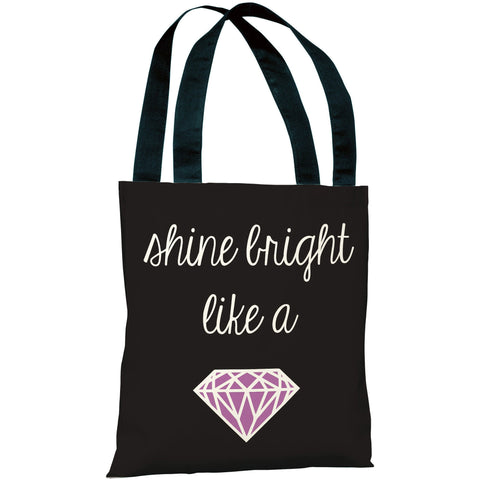 """Shine Bright Like A Diamond"" 18""x18"" Tote Bag by OneBellaCasa"
