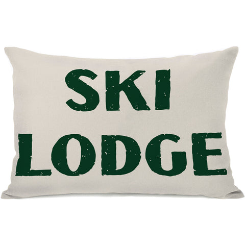 """Ski Lodge"" Indoor Throw Pillow by OneBellaCasa, 14""x20"""