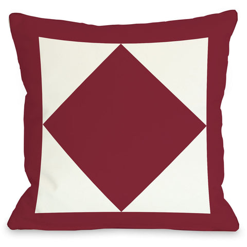 """Square & Diamond"" Outdoor Throw Pillow by OneBellaCasa, Navy, 16""x16"""