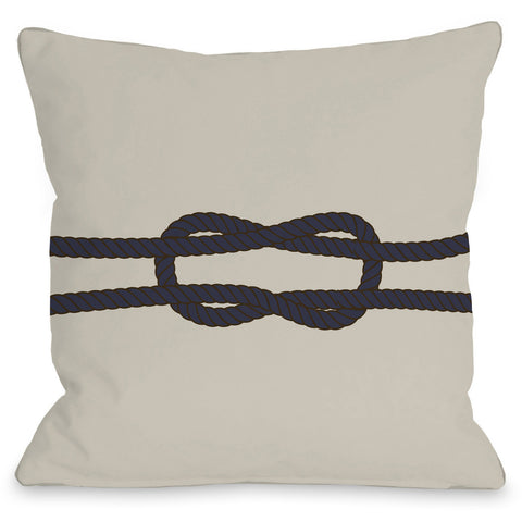 """Square Knot"" Indoor Throw Pillow by OneBellaCasa, 16""x16"""
