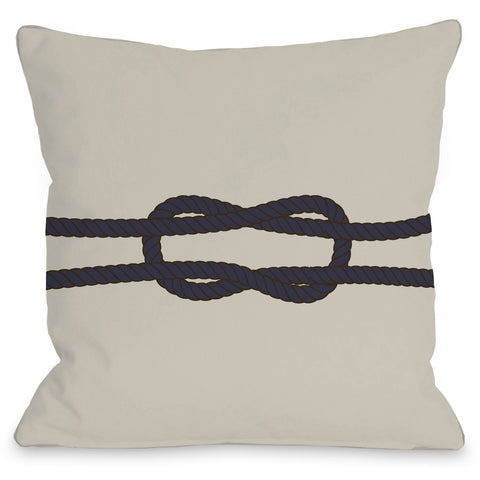 """Square Knot"" Outdoor Throw Pillow by OneBellaCasa, 16""x16"""