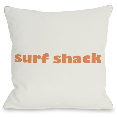 """Surf Shack"" Outdoor Throw Pillow by OneBellaCasa, 16""x16"""