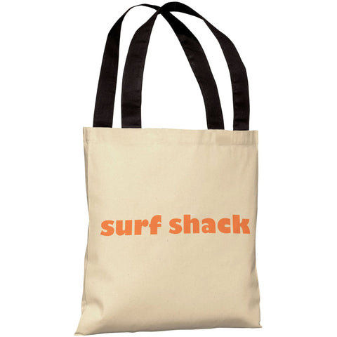 """Surfs Shack"" 18""x18"" Tote Bag by OneBellaCasa"