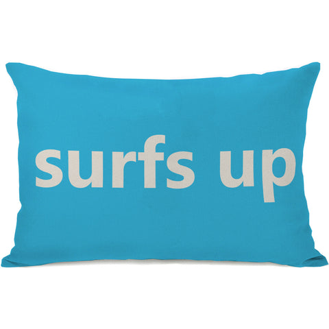 """Surfs Up"" Outdoor Throw Pillow by OneBellaCasa, 14""x20"""