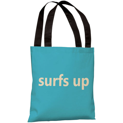 """Surfs Up"" 18""x18"" Tote Bag by OneBellaCasa"