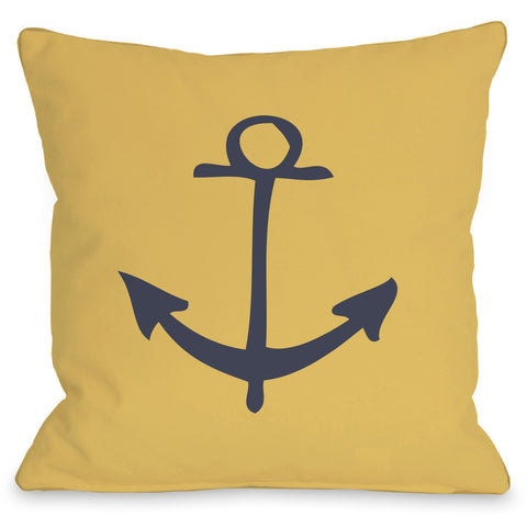 """Vintage Anchor"" Indoor Throw Pillow by OneBellaCasa, 16""x16"""
