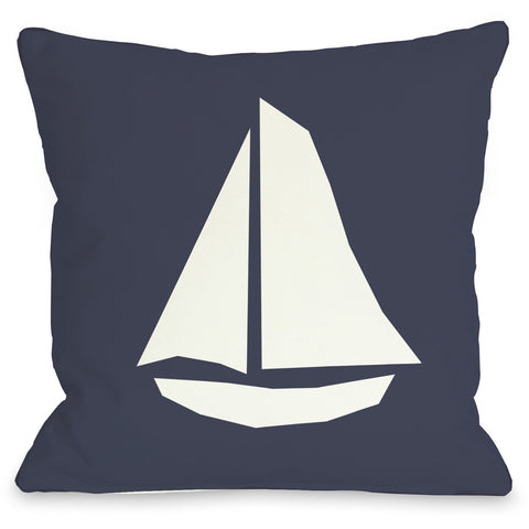 """Vintage Sailboat"" Outdoor Throw Pillow by OneBellaCasa, 16""x16"""