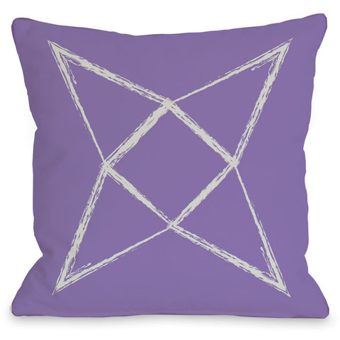 """Written In The Star"" Outdoor Throw Pillow by OneBellaCasa, Pink, 16""x16"""