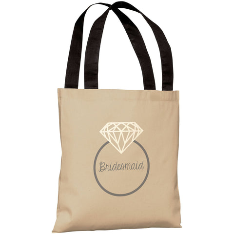 """Diamond Ring Bridesmaid"" 18""x18"" Tote Bag by OneBellaCasa"