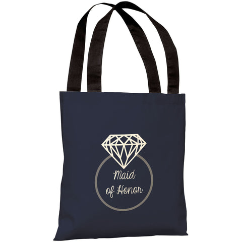 """Diamond Ring Maid of Honor"" 18""x18"" Tote Bag by OneBellaCasa"