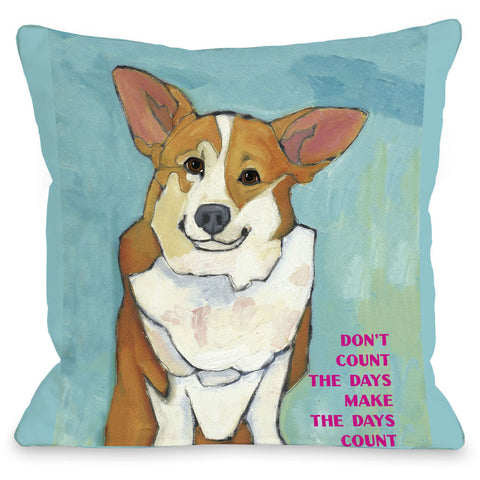 """Don't Count The Days"" Indoor Throw Pillow by Ursula Dodge, 16""x16"""