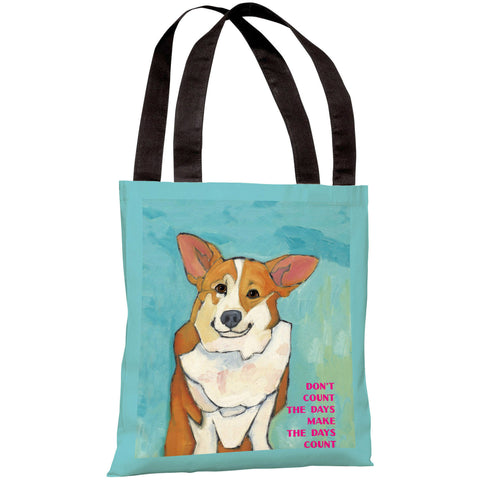 """Don't Count The Days"" 18""x18"" Tote Bag by Ursula Dodge"