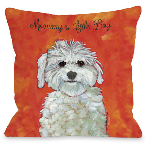 """Mommy's Little Boy"" Indoor Throw Pillow by Ursula Dodge, 16""x16"""