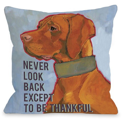 """Never Look Back"" Indoor Throw Pillow by Ursula Dodge, 16""x16"""