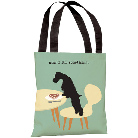 """Stand For Something Dog"" 18""x18"" Tote Bag by Dog is Good"