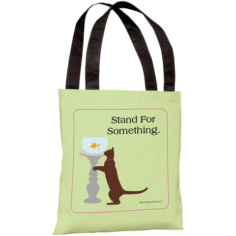 """Stand For Something Cat"" 18""x18"" Tote Bag by Dog is Good"