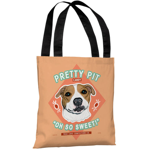 """Pretty Pit Candy"" 18""x18"" Tote Bag by Retro Pets"