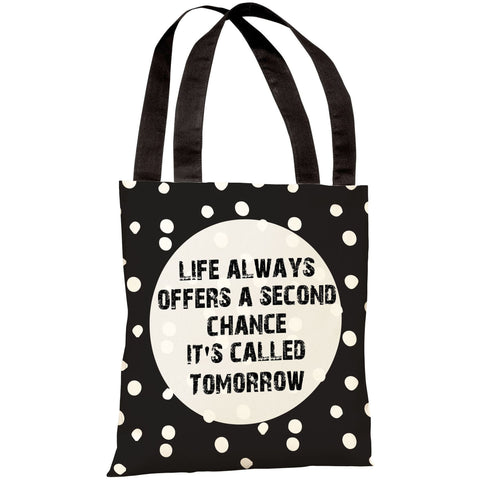 """Life Always Offers A Second Chance"" 18""x18"" Tote Bag by OneBellaCasa"