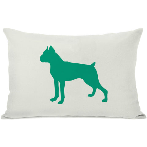 """Boxer Silhouette"" Indoor Throw Pillow by OneBellaCasa, Black, 14""x20"""