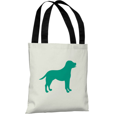 """Lab Silhouette"" 18""x18"" Tote Bag by OneBellaCasa"