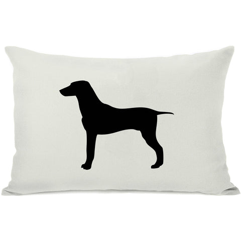 """Large Mix Silhouette"" Indoor Throw Pillow by OneBellaCasa, Black, 14""x20"""