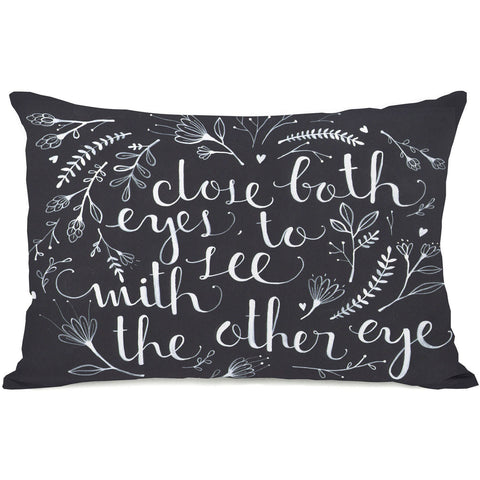 """Close Both Eyes"" Indoor Throw Pillow by Ana Victoria Calderon, 14""x20"""