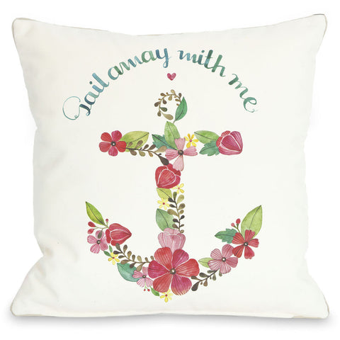 """Sail Away With Me"" Outdoor Throw Pillow by Ana Victoria Calderon, 16""x16"""