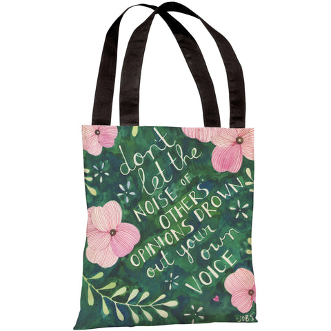 """Your Own Voice"" 18""x18"" Tote Bag by Ana Victoria Calderon"