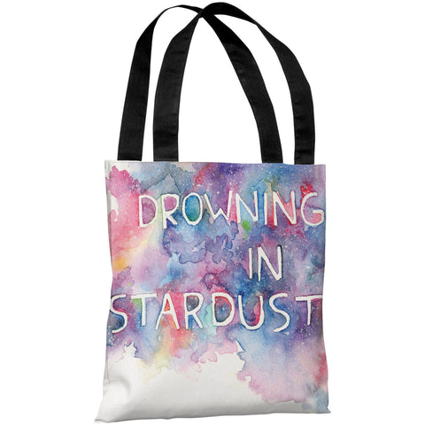 """Drowning In Stardust"" 18""x18"" Tote Bag by Ana Victoria Calderon"