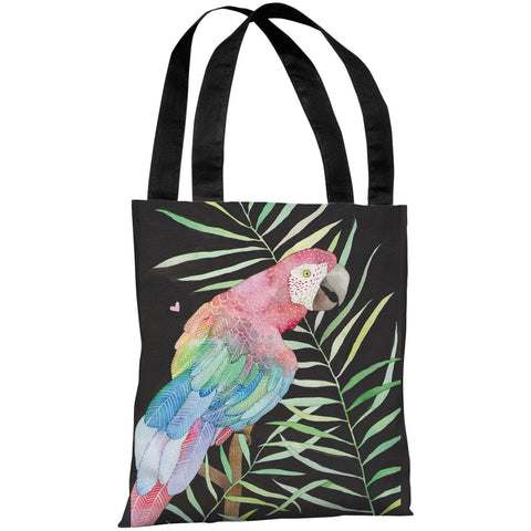 """Parrot"" 18""x18"" Tote Bag by Ana Victoria Calderon"