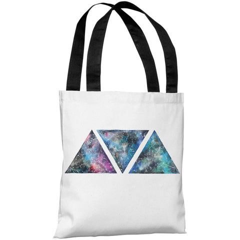 """Galaxy Triangles"" 18""x18"" Tote Bag by Ana Victoria Calderon"