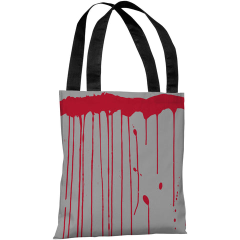 """Dripping Blood"" 18""x18"" Tote Bag by OneBellaCasa"