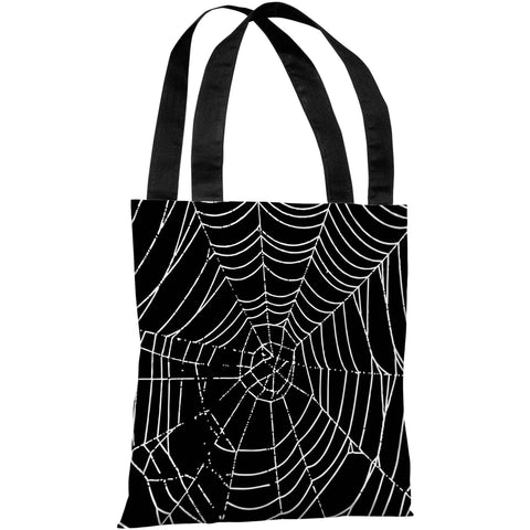 """All Over Spider Web"" 18""x18"" Tote Bag by OneBellaCasa"