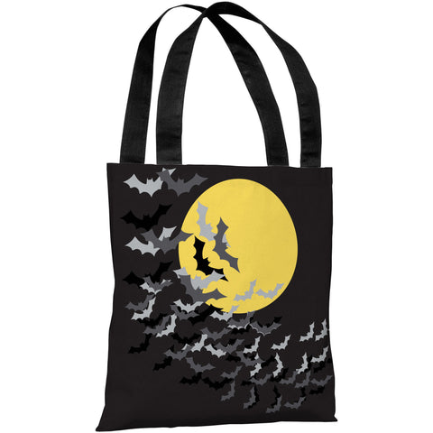 """Flock Of Bats Moon"" 18""x18"" Tote Bag by OneBellaCasa"