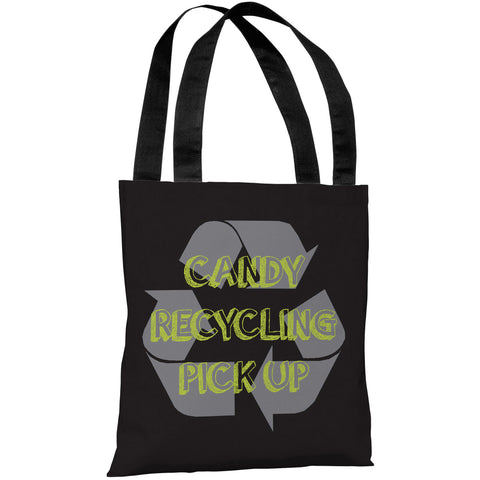 """Candy Recycling"" 18""x18"" Tote Bag by OneBellaCasa"