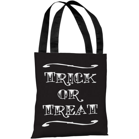 """Trick Or Treat"" 18""x18"" Tote Bag by OneBellaCasa"