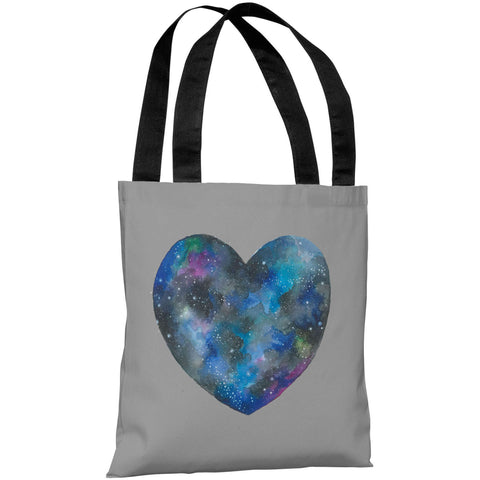 """Cosmic Heart"" 18""x18"" Tote Bag by Ana Victoria Calderon"
