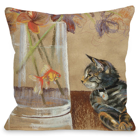 """Eye To Eye"" Indoor Throw Pillow by Graviss Studios, 16""x16"""