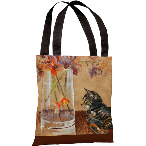 """Eye To Eye"" 18""x18"" Tote Bag by Graviss Studios"