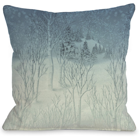 """Winter Woods"" Indoor Throw Pillow by Kate Ward Thacker, 16""x16"""