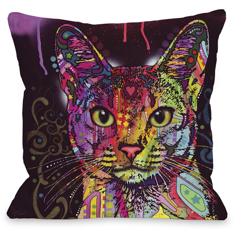 """Abyssinian"" Indoor Throw Pillow by Dean Russo, 16""x16"""