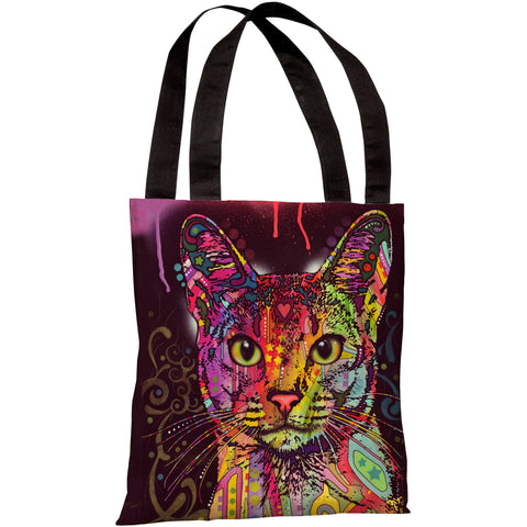 """Abyssinian"" 18""x18"" Tote Bag by Dean Russo"