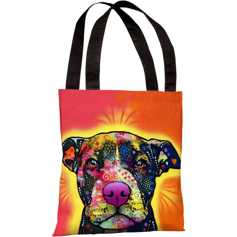 """Love A Bull"" 18""x18"" Tote Bag by Dean Russo"