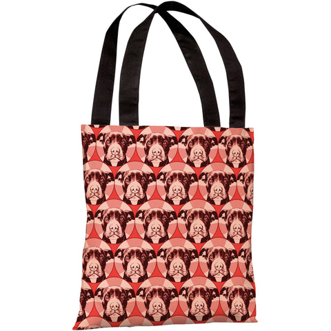 """Love A Bull Pattern"" 18""x18"" Tote Bag by Dean Russo"