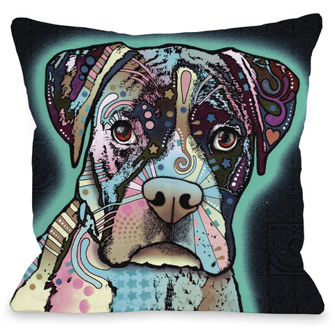 """Love Thy Boxer"" Indoor Throw Pillow by Dean Russo, 16""x16"""