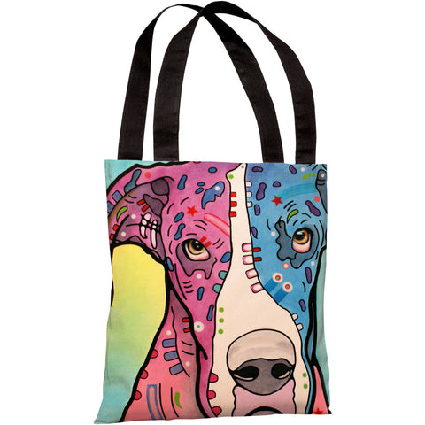"""Nobody's Fool"" 18""x18"" Tote Bag by Dean Russo"